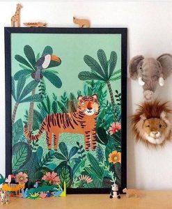 Affiche Tigre Petit Monkey