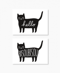 Lot de 10 stickers chat Audrey Jeanne