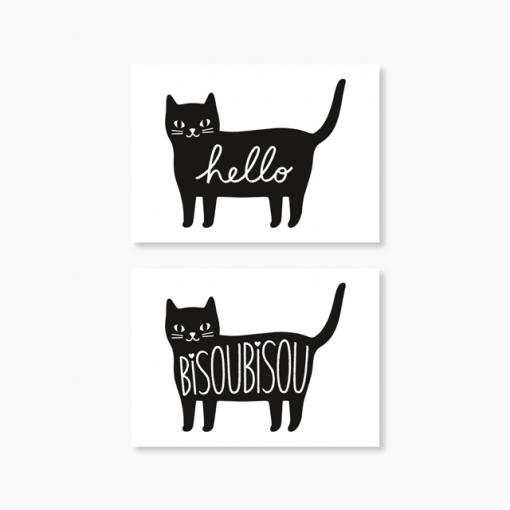Lot de 10 stickers chat Audrey Jeanne
