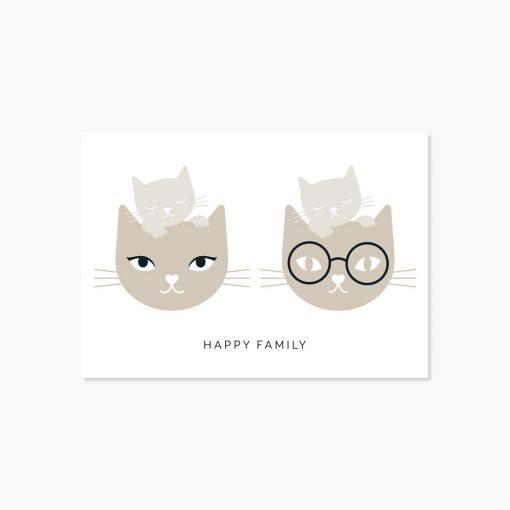 Carte famille Audrey Jeanne Happy family
