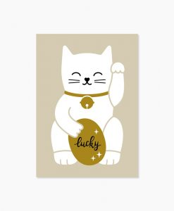 Carte chance Lucky cat Audrey Jeanne