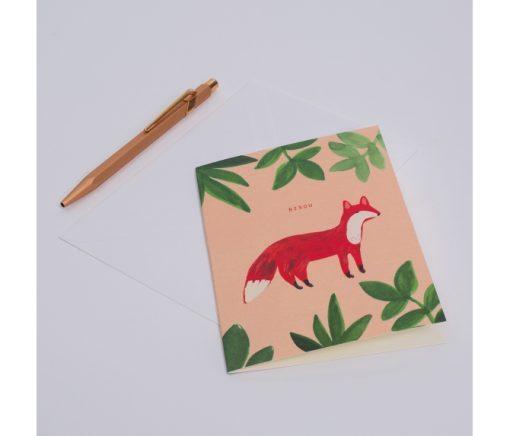 Carte bisou Season Paper Petit renard