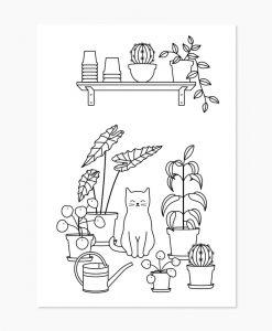 Livre de coloriage chat Audrey Jeanne