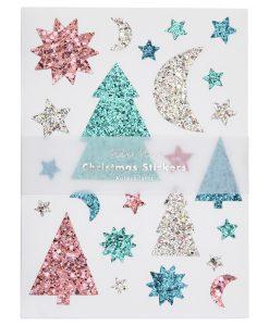 Stickers de Noël à paillettes Meri Meri