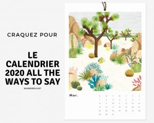 calendrier mural 2020 all the ways to say