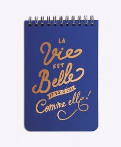 Bloc-notes La vie est belle Les Editions du Paon