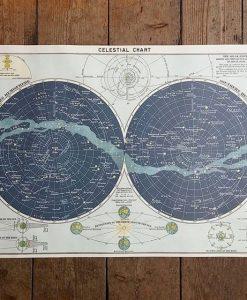 Affiche Carte du ciel Cavallini