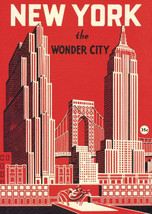 Affiche vintage New York Cavallini
