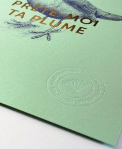 Affiche Prête moi ta plume Les Editions du Paon vert d'eau