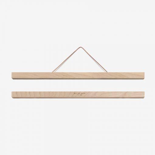 Porte affiche magnétique en bois A3