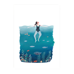 Affiche Blue sea Jade Fisher