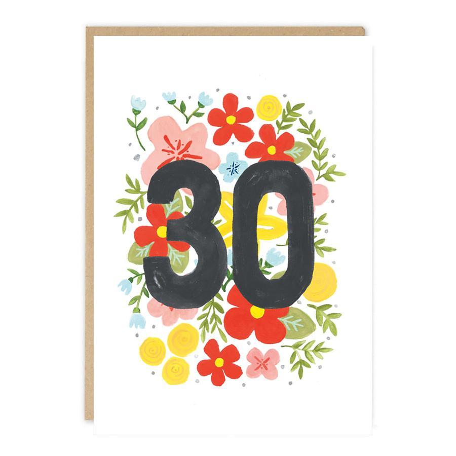 Carte Anniversaire 30 Ans Jade Fisher Pastel Shop