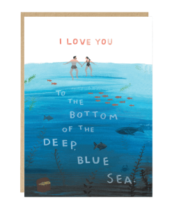 Carte amour Blue Sea Jade Fisher