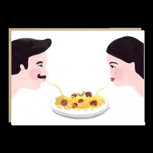 Carte amour Spaghettis Jade Fisher