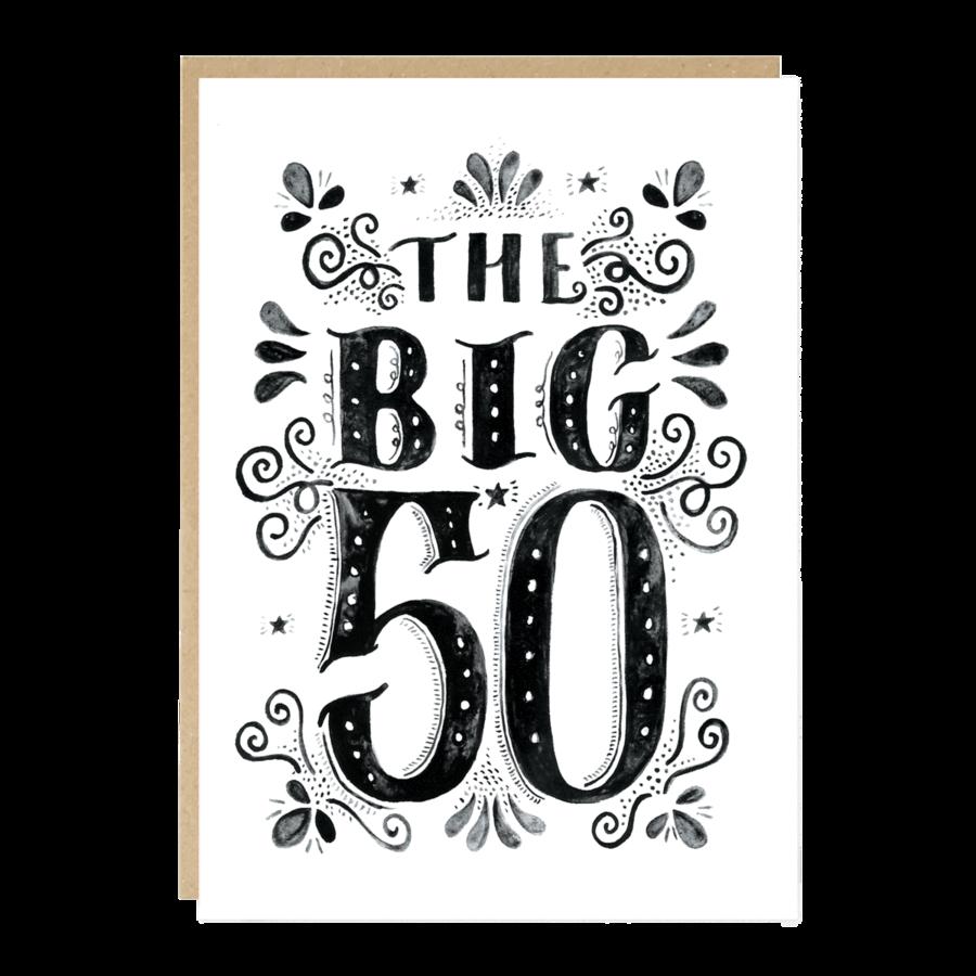 Carte Anniversaire 50 Ans Jade Fisher Pastel Shop