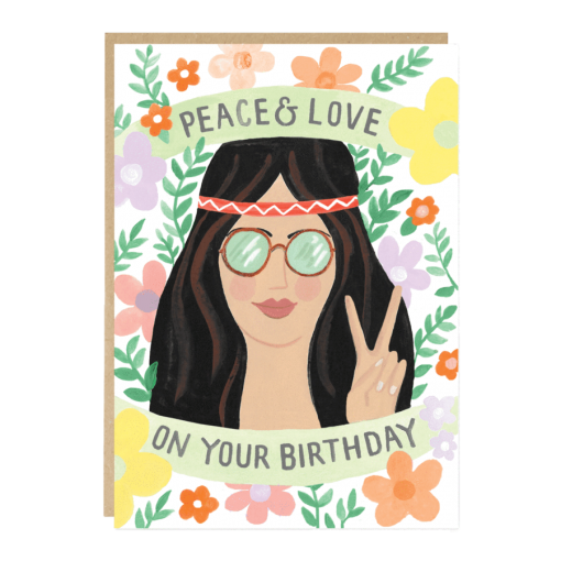 Carte anniversaire Peace & Love Jade Fisher