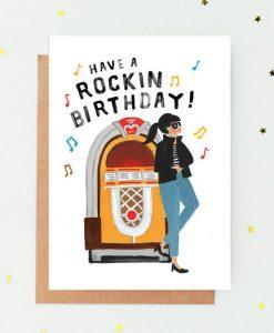 Carte anniversaire Rockin' Jade Fisher