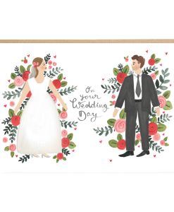 Carte félicitations Mariage floral Jade Fisher