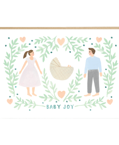 Carte naissance Baby Joy Jade Fisher