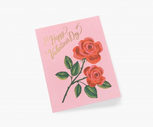 Carte St Valentin Roses are red Rifle Paper Co