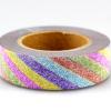 masking tape paillette arc-en-ciel