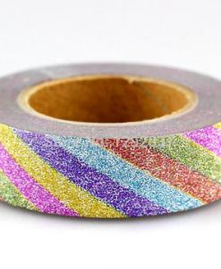 Masking tape paillettes arc-en-ciel