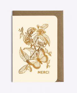 Carte merci Papillon Les Editions du Paon
