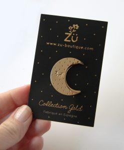 Pin's lune dorée ZÜ
