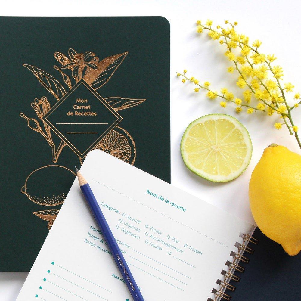 carnet de recettes les editions du paon vert sapin