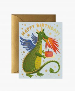 Carte anniversaire Dragon Rifle Paper