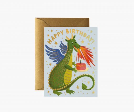 Carte anniversaire Dragon Rifle Paper
