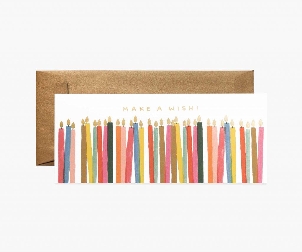 carte anniversaire make a wish riflepaper co