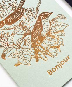 Carte Bonjour Rossignol Les Editions du Paon