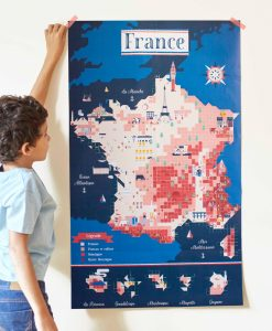 Sticker Poster – Carte de France