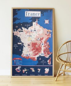 Sticker Poster – Carte de France