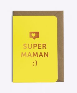 Carte Super maman Les Editions du Paon