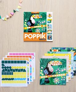 Lot de 6 cartes en gommettes – Tropical