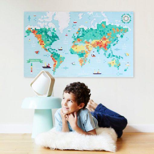 Sticker Poster – Carte du monde