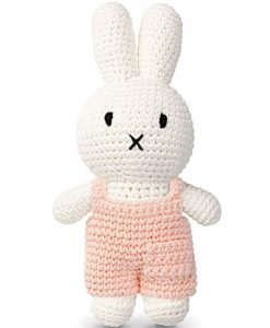 Peluche Miffy Salopette – Rose pastel