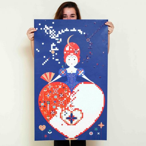 Sticker Poster – La reine