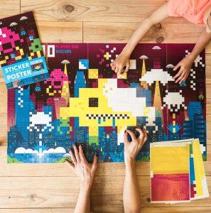 poster stivkers pixel art jeux videos