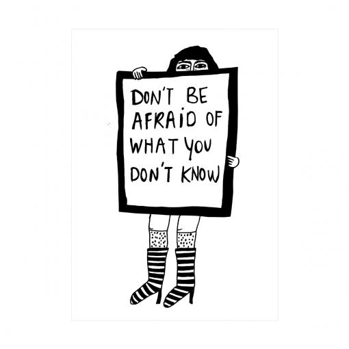Affiche Don't be afraid Helen B