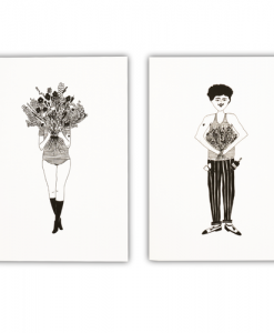 Lot de 2 carnets Flower Girl & Flower Man Helen B
