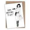 Carte anniversaire Pin up Helen B
