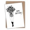 carte anniversaire flower girl helen b