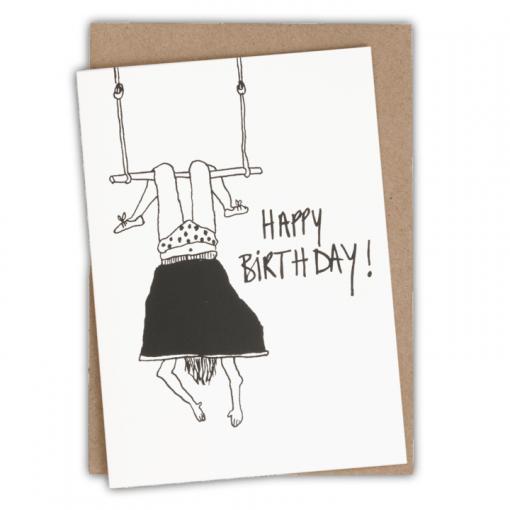 Carte anniversaire Trapeze girl Helen B