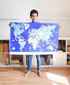 Poster géant + 200 stickers – Drapeaux du monde