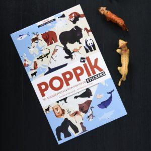 Poster géant + 76 stickers - Animaux du monde POPPIK
