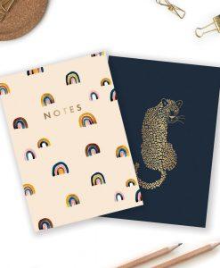 Carnets de poche Léopard et Arc-en-ciel All The Ways To Say – lot de 2