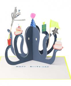 Carte anniversaire à poser Pieuvre Meri Meri